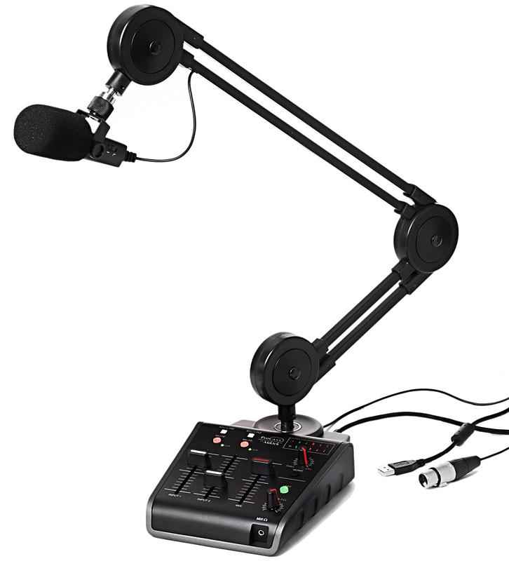 宅録やストリーミング配信に最適なアーム一体型オーディオインターフェース「Miktek Pro CAST」